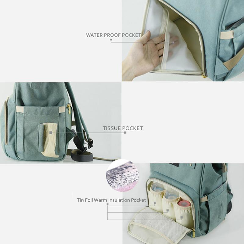 Plain Polyester Diaper Backpack