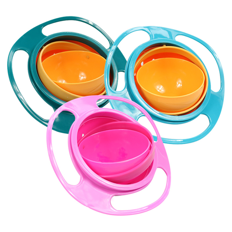 Baby's Rotating Plastic Bowl