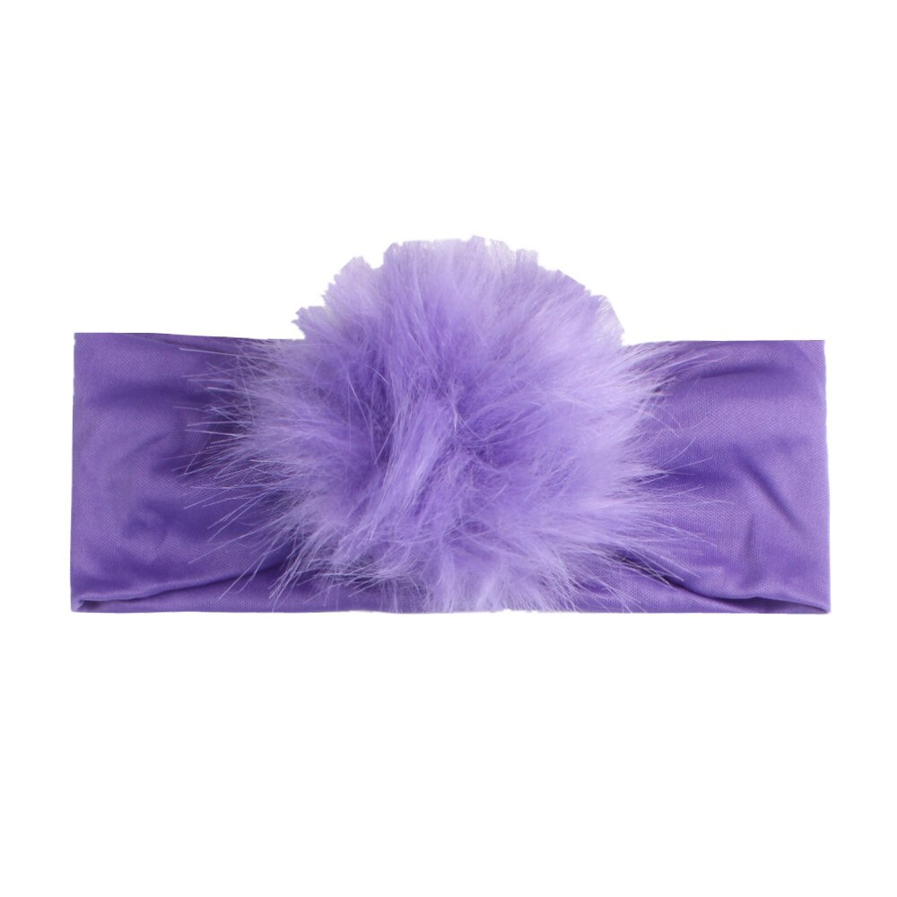 Colorful Newborn Headband with Fluffy Ball